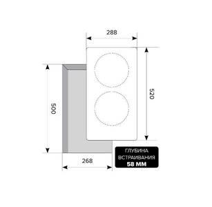 Варочная панель индукционная EVI 320-2 BL, черный Изображение 2