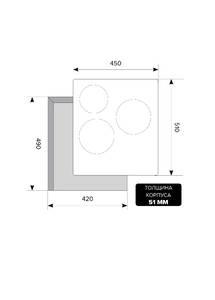 Варочная панель индукционная EVI 430 BL, черный Изображение 2