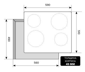 Варочная поверхность электрическая EVE 640 C IV Light, белый антик Изображение 2