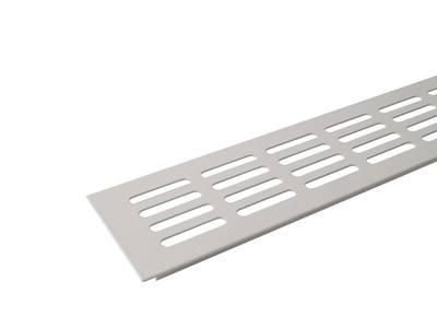 Вентиляционная алюминиевая решетка Bauset для подоконника 800/80 мм, белая Изображение