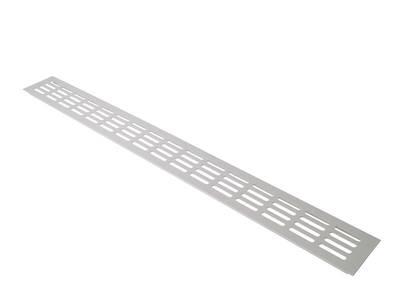 Вентиляционная алюминиевая решетка Bauset для подоконника 800/80 мм, белая Изображение 2
