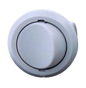 Выключатель врезной кнопочный, серый, D-27мм, 5А Изображение