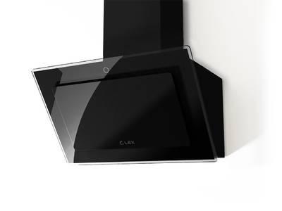 Вытяжка наклонная MIKA GS 600 BLACK, ширина 600 мм, черное стекло Изображение