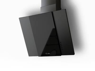 Вытяжка наклонная POLO 600 BLACK, ширина 600 мм, черный Изображение