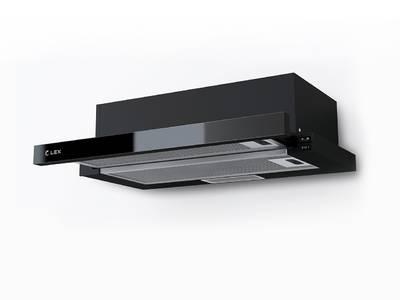 Вытяжка встраиваемая HUBBLE G 2M 600 BLACK, ширина 600 мм, черное стекло Изображение