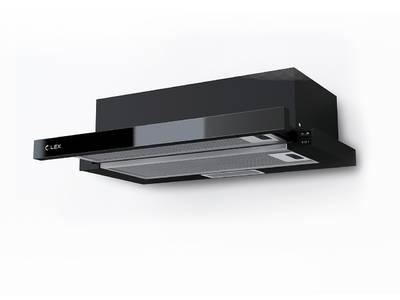 Вытяжка встраиваемая HUBBLE G 500 BLACK, ширина 500 мм, черное стекло Изображение