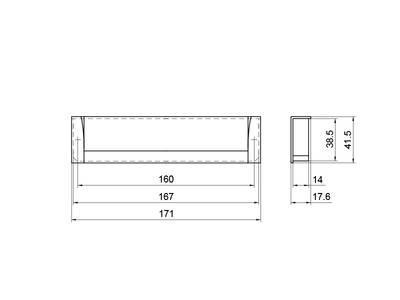 Врезная ручка 160мм, нержавеющая сталь/шлифованный никель Изображение 5