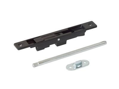 Шпингалет врезной ELEMENTIS для алюминиевых дверей, черный с ригелем 200 мм Изображение 2
