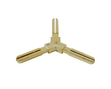 Y-образное пластиковое декоративное соединение 120° Germanella золото Изображение