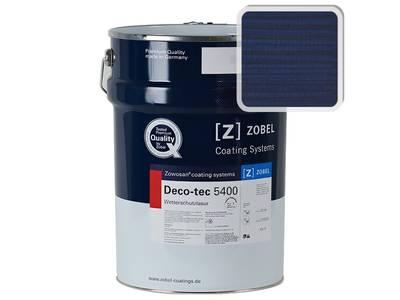 Лак фасадный ZOBEL Deco-tec 5400/5420, Blau 5.02 шелковисто-матовый,  1л Изображение