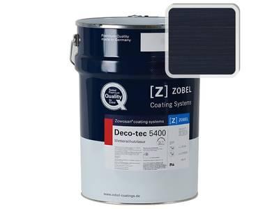 Лак фасадный ZOBEL Deco-tec 5400/5420, Blau 5.13 шелковисто-матовый, 1л Изображение