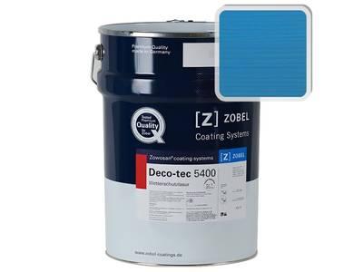 Лак фасадный ZOBEL Deco-tec 5400/5420, Blau 5.15 шелковисто-матовый, 1л Изображение
