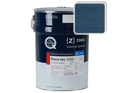 Лак фасадный ZOBEL Deco-tec 5400/5420, Blau 5.19 шелковисто-матовый, 1л Изображение