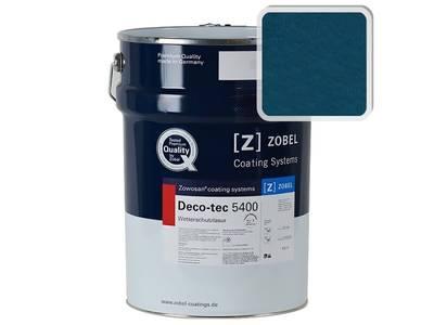 Лак фасадный ZOBEL Deco-tec 5400/5420, Blau 5.43 шелковисто-матовый, 1л Изображение