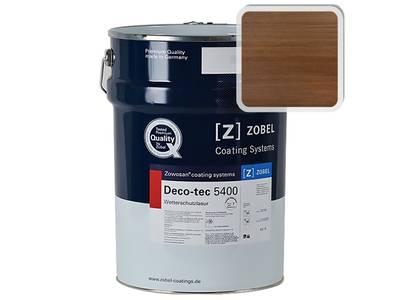 """Лак фасадный ZOBEL Deco-tec 5400/5420, """"Braun 8.03"""" шелковисто-матовый, 1л Изображение"""