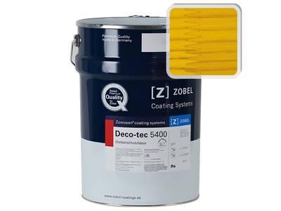 Лак фасадный ZOBEL Deco-tec 5400/5420, Gelb 1.41 шелковисто-матовый, 1л Изображение