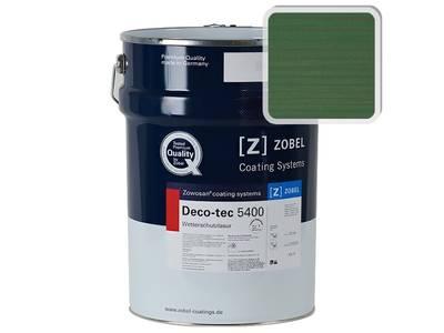 Лак фасадный ZOBEL Deco-tec 5400/5420, Grun 6.43 шелковисто-матовый, 1л Изображение
