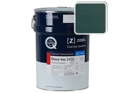 Лак фасадный ZOBEL Deco-tec 5400/5420, Grun 6.46 шелковисто-матовый, 1л Изображение