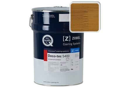 Лак фасадный ZOBEL Deco-tec 5400/5420, Routbuche 023 шелковисто-матовый,  1л Изображение