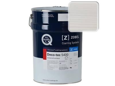 Лак фасадный ZOBEL Deco-tec 5400/5420, Weiss 0.01 шелковисто-матовый, 1л Изображение