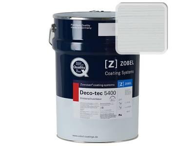 """Лак фасадный ZOBEL Deco-tec 5400/5420 """" Weiss белый 100"""" шелковисто-матовый, 1 л Изображение"""