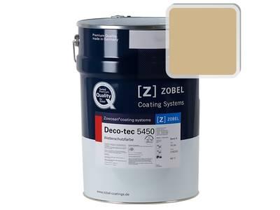 Краска для дерева акриловая ZOBEL Deco-tec 5450A RAL 1001 шелковисто-матовая, 1 л Изображение