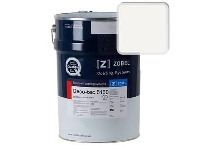 Краска для дерева акриловая ZOBEL Deco-tec 5450A RAL 9010 шелковисто-матовая, 1л Изображение