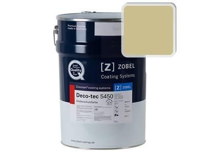 Краска для дерева акриловая ZOBEL Deco-tec 5450B RAL 1000 шелковисто-матовая, 1 л Изображение