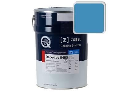 Краска для дерева акриловая ZOBEL Deco-tec 5450B RAL 5012 шелковисто-матовая, 1л Изображение