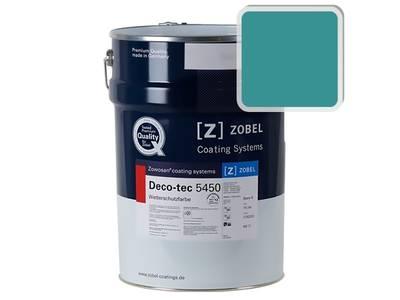 Краска для дерева акриловая ZOBEL Deco-tec 5450B RAL 5018 шелковисто-матовая, 1 л Изображение