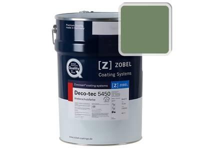 Краска для дерева акриловая ZOBEL Deco-tec 5450B RAL 6011 шелковисто-матовая, 1 л Изображение