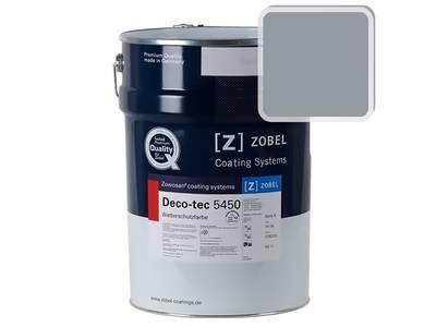 Краска для дерева акриловая ZOBEL Deco-tec 5450B RAL 7001 шелковисто-матовая, 1 л Изображение