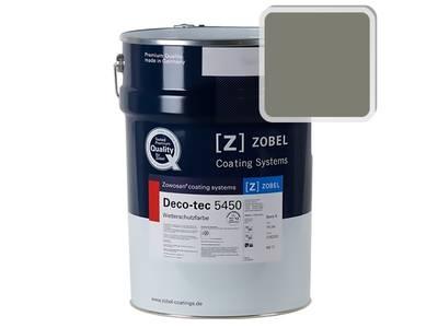 Краска для дерева акриловая ZOBEL Deco-tec 5450B RAL 7003 шелковисто-матовая, 1 л Изображение