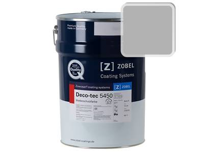 Краска для дерева акриловая ZOBEL Deco-tec 5450B RAL 7004 шелковисто-матовая, 1 л Изображение
