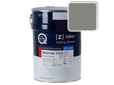 Краска для дерева акриловая ZOBEL Deco-tec 5450B RAL 7023 шелковисто-матовая, 1 л Изображение