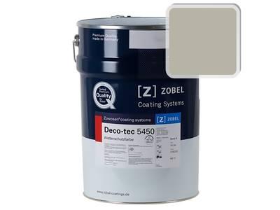 Краска для дерева акриловая ZOBEL Deco-tec 5450B RAL 7032 шелковисто-матовая, 1 л Изображение