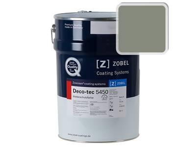 Краска для дерева акриловая ZOBEL Deco-tec 5450B RAL 7033 шелковисто-матовая, 1 л Изображение