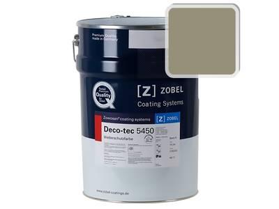 Краска для дерева акриловая ZOBEL Deco-tec 5450B RAL 7034 шелковисто-матовая, 1 л Изображение