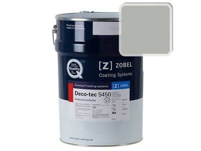 Краска для дерева акриловая ZOBEL Deco-tec 5450B RAL 7038 шелковисто-матовая, 1 л Изображение