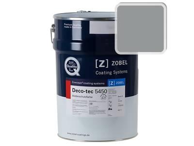 Краска для дерева акриловая ZOBEL Deco-tec 5450B RAL 7042 шелковисто-матовая, 1 л Изображение