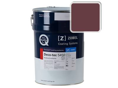Краска для дерева акриловая ZOBEL Deco-tec 5450C RAL 3005 шелковисто-матовая, 1л Изображение