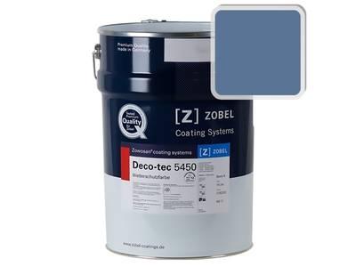 Краска для дерева акриловая ZOBEL Deco-tec 5450C RAL 5023 шелковисто-матовая, 1л Изображение