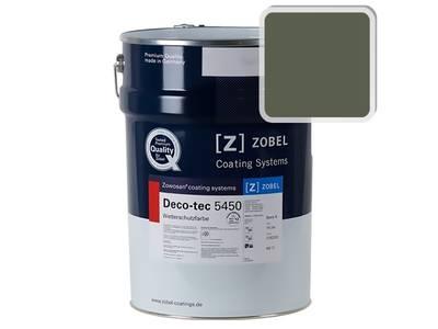 Краска для дерева акриловая ZOBEL Deco-tec 5450C RAL 6003 шелковисто-матовая, 1 л Изображение