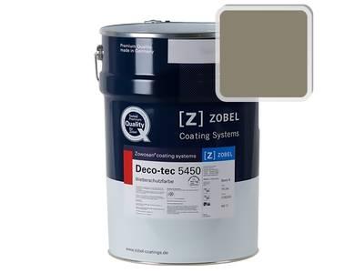 Краска для дерева акриловая ZOBEL Deco-tec 5450C RAL 7002 шелковисто-матовая, 1 л Изображение