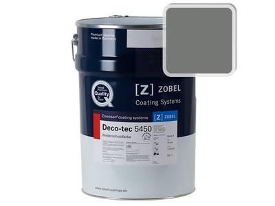 Краска для дерева акриловая ZOBEL Deco-tec 5450C RAL 7005 шелковисто-матовая, 1 л Изображение