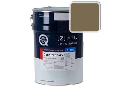 Краска для дерева акриловая ZOBEL Deco-tec 5450C RAL 7008 шелковисто-матовая, 1 л Изображение