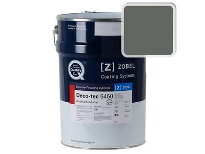 Краска для дерева акриловая ZOBEL Deco-tec 5450C RAL 7010 шелковисто-матовая, 1 л Изображение