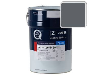 Краска для дерева акриловая ZOBEL Deco-tec 5450C RAL 7011 шелковисто-матовая, 1 л Изображение
