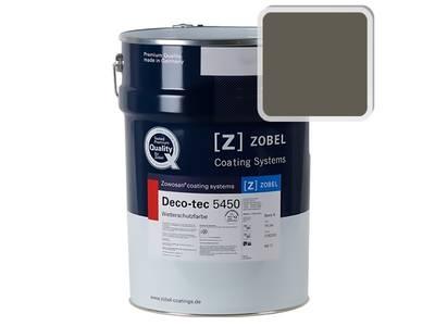 Краска для дерева акриловая ZOBEL Deco-tec 5450C RAL 7013 шелковисто-матовая, 1 л Изображение