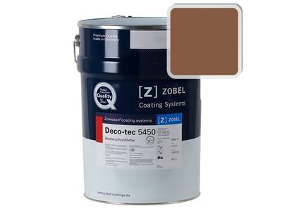 Краска для дерева акриловая ZOBEL Deco-tec 5450C RAL 8003 шелковисто-матовая, 1 л Изображение